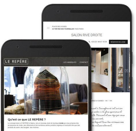 Site responsive - Saint-Dié, Nancy